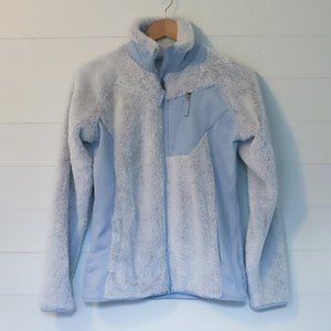 Columbia fuzzy sherpa zip-up jacket